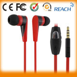 High Quality Headset Popular Flat Cable Mobile Phone Earphone