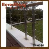 Customed Design Cable Railing 304 Stainless Steel Balcony Baluster (SJ-S063)