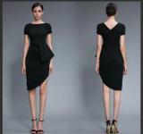 Fashion Women′s Medium Length Sexy Lady Evening Dress