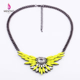 Fashion New Design Wings with Rhinestone Imitation Jewelry Chain Necklace