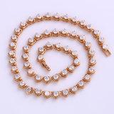 Xuping 18k Gold CZ Stones Fashion Jewelry Chains Set (61725)