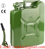 Un Approved 10L Olive Green Metal Fuel Jerry Can Vertical Gas Canister Carrier