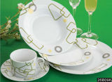 Tableware Porcelain Dinnerware, Dinner Plate, Soup Plate, Salad Bowl Set