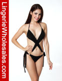 New Design Ladies Halter Bandage with Buckle Sexy Bikini