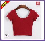 Fashion Sexy Printed Ladies T-Shirt for Women (W184)