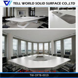 Multi-Functional Red Half Round Corian Artificial Marble Top Modern Luxury Design Office Meeting Table Design