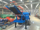 Whole Mobile Stone Crushing Line on The Wheels Which Can Be Moved Easily