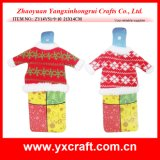Christmas Decoration (ZY14Y51-9-10) Christmas Decoration Supply Wine Gift Set