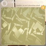 Verified Supplier Export to Dubai UAE Color Mirror Etched Finish Decorative Stainless Steel Sheet