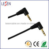 Stereo Audio Cable, 3.5mm Stereo Male Right Angle Plug to 3.5mm Stereo Male Right Angle Plug