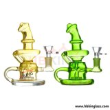Enjoylife Hbking Glass Water Pipe Double Barrel Percolator Per High End Hand Blown Smoking Glass Waterpipes DAB Rigs 14mm Joint Waterpipes