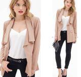 OEM Plus Size Long Sleeve 2015 Fashion Women Coat