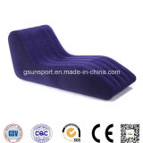 Inflatable S Shape Sofa Flocked PVC Sofa