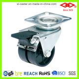 Twin Wheels Black Nylon Caster (P190-30B075X23D)