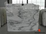 Natural Chinese Carrara White Stone Marble Tile, Countertop, Slab