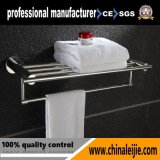 Bathroom and Shower Clothes Wall Mounted Stainless Steel Towel Rack Holder with Shelf