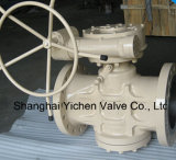 Gear Operated Double Flange Lubricated Plug Valve
