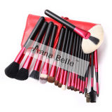 Black&Red PRO 18PCS Goat/Horse Hair Makeup Brush Set Cosmetics Make up Brushes