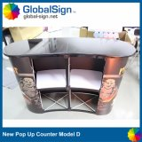 Wholesale Curved Promotion Pop up Table Portable Booth Counter