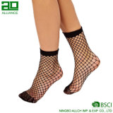 2017 Popular Fashion Custom Nylon Crew Fishnet Women Socks