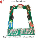 2014 Promotional Soft PVC Beautiful Christmas Photo Frame (YH-PF071)
