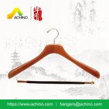 Wooden Coat Hangers with Non Slip Bar (WDS300)