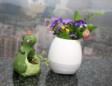 Wholesale Birthday Gift Indoor Touch Smart Mini Music Flowerpots LED Flower Pot with Colorful Lamp and Bluetooth Speaker