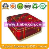 Square Tin Chocolate Box for Food, Chocolate Tin Box