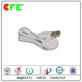 4pin Magnetic Connector with White USB Cable