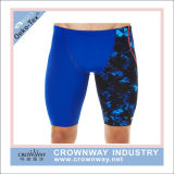 Polyester Spandex Swimming Trunk Men Swimwear with Sublimation Printing