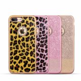 Mobile Phone Leopard TPU Case with Diamond for iPhone 7