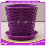 Plastic Rattan Flowerpot Mold