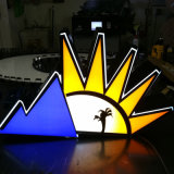 Newest Style Stainless Mini Dimensional LED Light Sign Back Loumions Word
