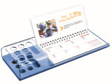 2018 Desk Calendar with Colorful Acrylic Stand