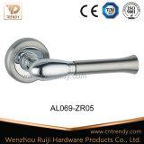 Double Color Aluminum Door Lever Handle on Zinc Rose (al069-zr05)