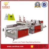 Double Channel Handle Plastic Bag Making Machine Price