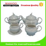 Ceramic Antique Tea Coffee Set with Milk Pot Pitcher