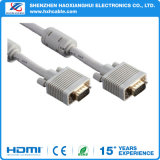 3.3FT White HD15p M to M VGA Cable