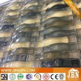 Square Marble and Bend Glass Mosaic for Kitchen Wall Border (M855041)