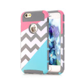 Wave Pattern 2 in 1 TPU Case Mix Color Design TPU Cell Phone Case for iPhone 6