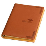 Embossed Logo Custom PU Leather Notebook for Diary, Office Supply