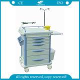 AG-Et007b3 High Quality Medical Equipment Cheap Hospital Trolley with Wheels