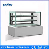 White Color 2 Shelves Marble Material Bakery Cold Cabinet