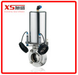 Stainless Steel Ss304 Pneumatic Actuator Triclamp Butterfly Valve (Air to Apring)