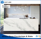 Quartz Stone Kitchen Countertop for Home Decoration with Factory Price (Calacatta)