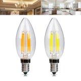 E14 E12 6W Dimmable Warm White Pure White LED Filament Candle Light Bulb AC110V AC220V