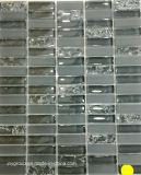 Glass Mosaic Mix Cracker Black and Grey Jy51k