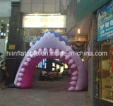 Customized New Style Giant Inflatable Whale Mouse for Decoration
