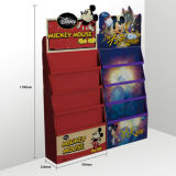 Hot Sale Corrugated Cardboard Cartoon Printing Floor Display Rack for Kid′s Books Wholesale