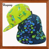 New Design Colorful Floral 5 Panel Hats Woven Label Custom (LT130312I)